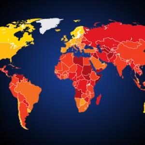 מפת העולם - תמונת אווירה. התמונה מהווה קישור לעמוד מדדי TI